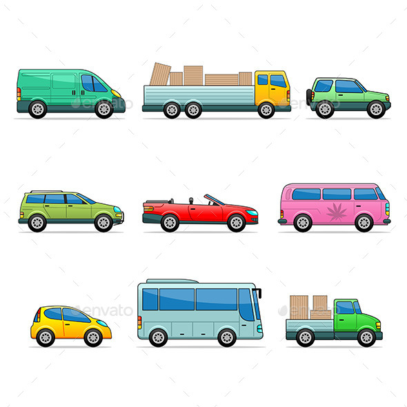 GraphicRiver Car Icons 9797841