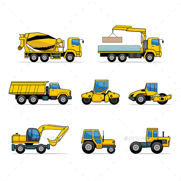 GraphicRiver Building Machines Set 9797849