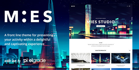 MIES - An Avant Garde Architecture WordPress Theme