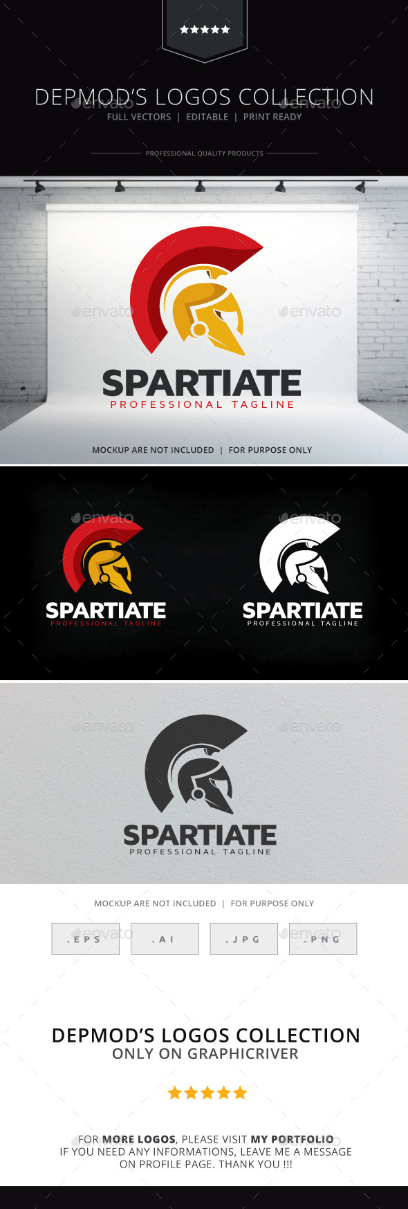 GraphicRiver Spartiate Logo 9797910