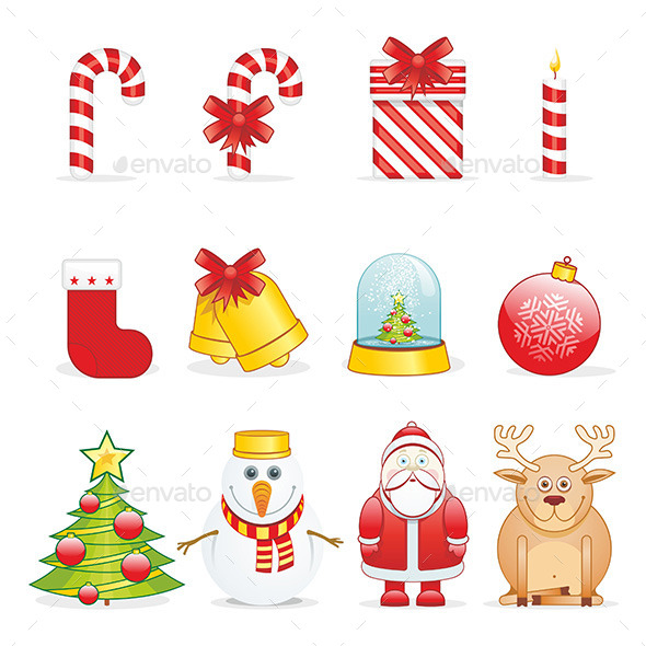 GraphicRiver Christmas Icons 9797920