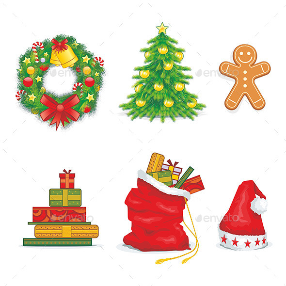 GraphicRiver Christmas Icons 9797941