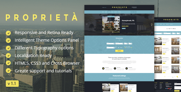 Proprieta Responsive WordPress Theme - Real Estate WordPress