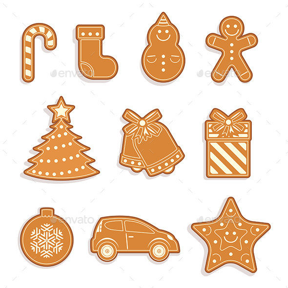 GraphicRiver Gingerbread Seamless Pattern 9797950