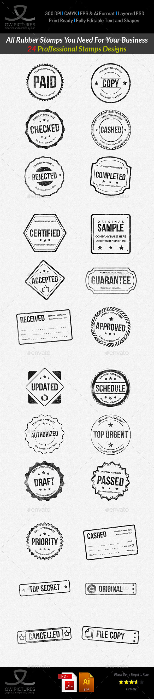 GraphicRiver Rubber Stamps Designs Collection 9797951