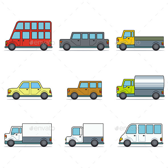 GraphicRiver Vector Car Icons 9797974