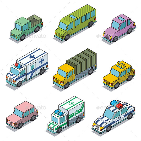 GraphicRiver Vector Car Icons 9797981