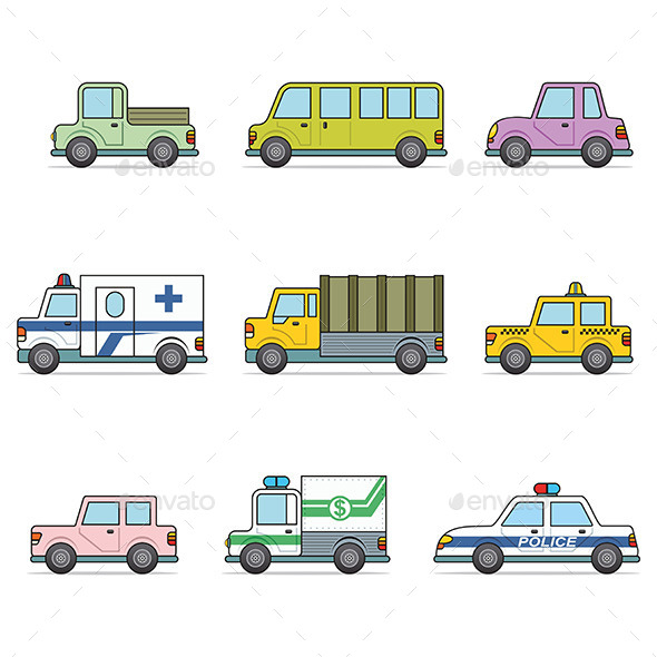 GraphicRiver Vector Car Icons 9797986