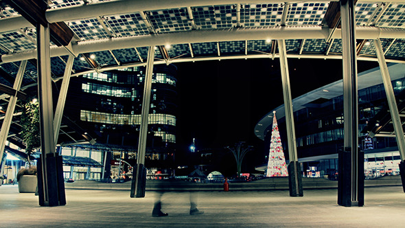 Christmas Time in the City by Night