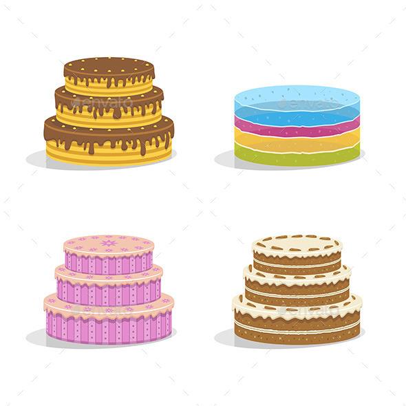 GraphicRiver Birthday Cakes 9798016