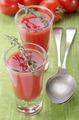 tomato soup in a shot glass - PhotoDune Item for Sale