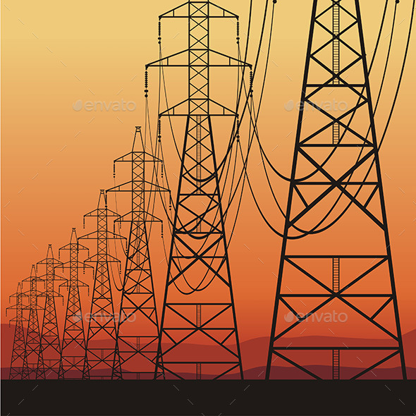 GraphicRiver Electrical Power Lines 9798264