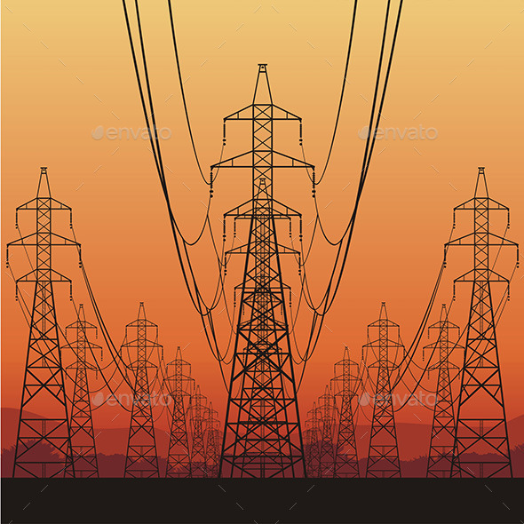 GraphicRiver Electrical Power Lines 9798271