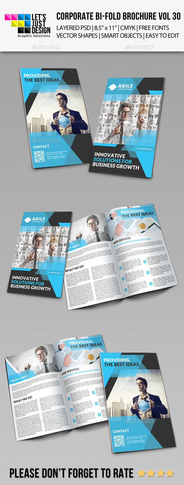 GraphicRiver Creative Corporate Bi-Fold Brochure Vol 30 9798290
