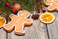 Gingerbreads and fir tree - PhotoDune Item for Sale