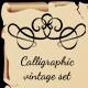 Calligraphic Vintage Set - GraphicRiver Item for Sale