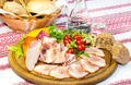 smoked meat on the table in a restaurant - PhotoDune Item for Sale