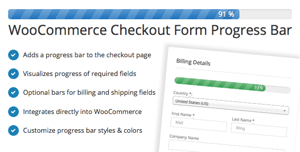 CodeCanyon WooCommerce Checkout Form Progress Bar 9798958