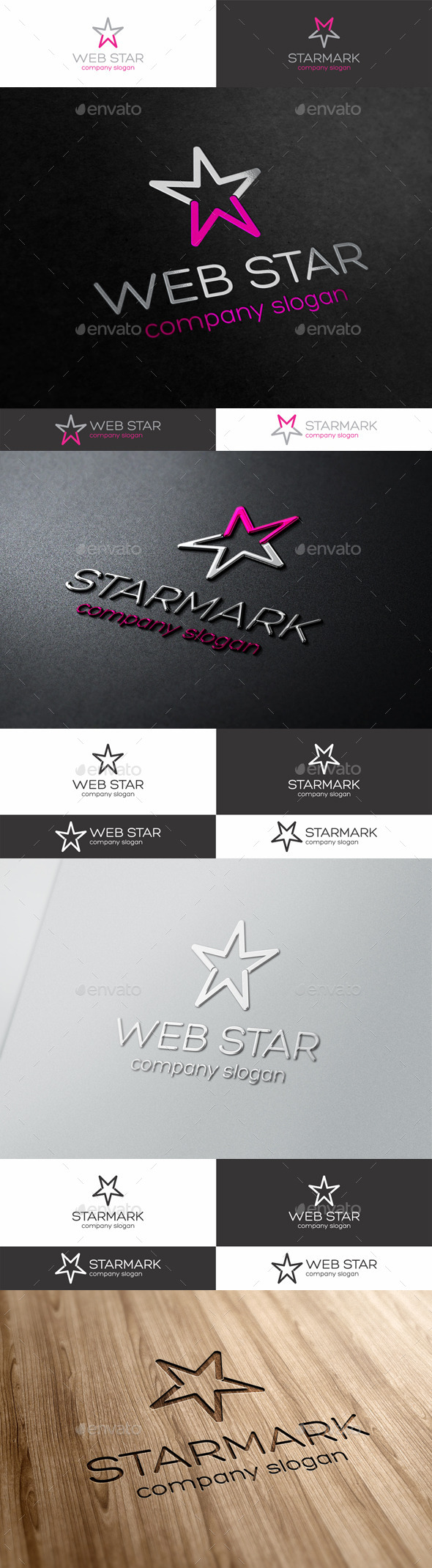 Web Star Logo Template