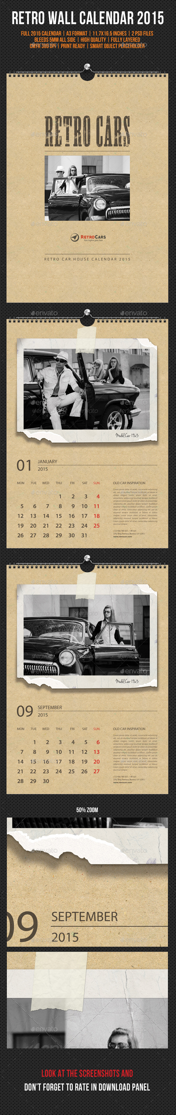 GraphicRiver Wall Calendar 2015 Retro Photo 9799086