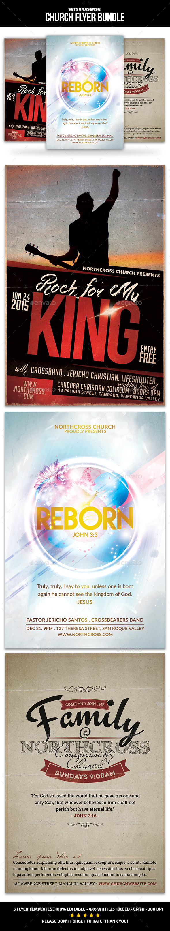 GraphicRiver Church Flyer Bundle 9799355