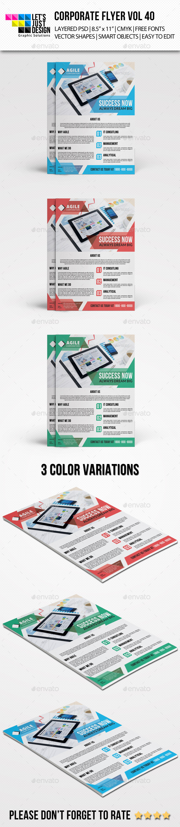GraphicRiver Corporate Flyer Template Vol 40 9799477