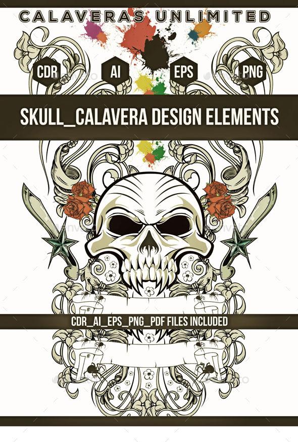 GraphicRiver Skull Emblem 9799856