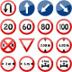 Road Sign Glossy Vector (Set 5 of 6) - GraphicRiver Item for Sale