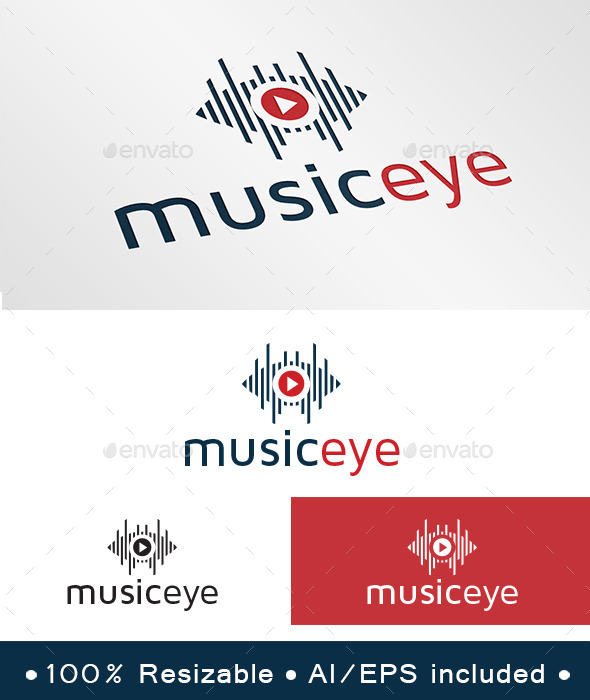 GraphicRiver Music Eye Logo 9800040