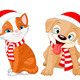Christmas Puppy and Kitten - GraphicRiver Item for Sale