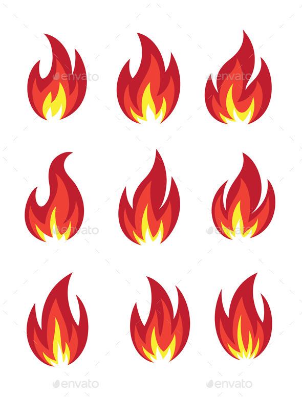 GraphicRiver Fire Icon Set 9800213