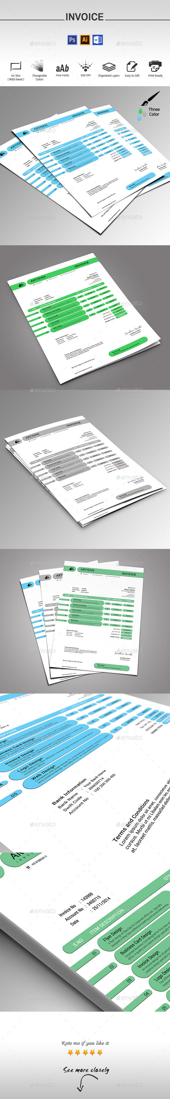 GraphicRiver Invoice 9709668