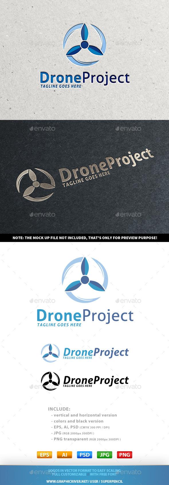 GraphicRiver Drone Project Logo 9800452