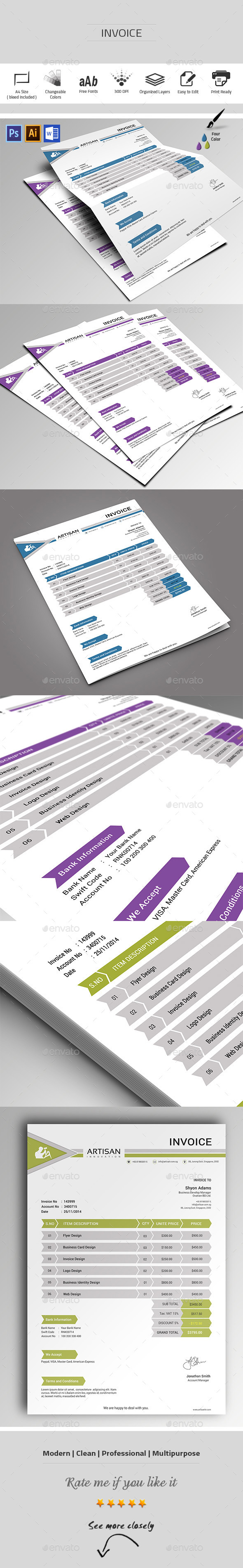 GraphicRiver Invoice 9801040