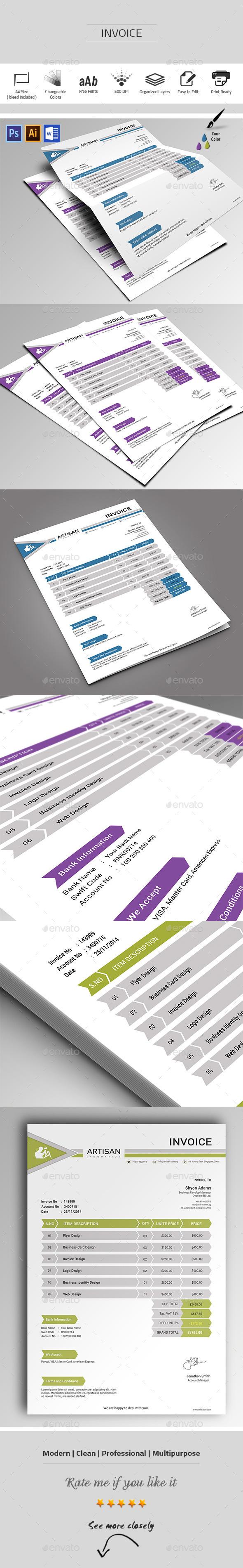 GraphicRiver Invoice 9801040