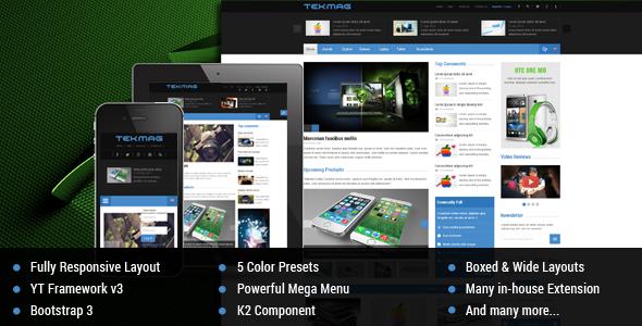 ThemeForest Tekmag Technology News Magazine Joomla Template 9581880