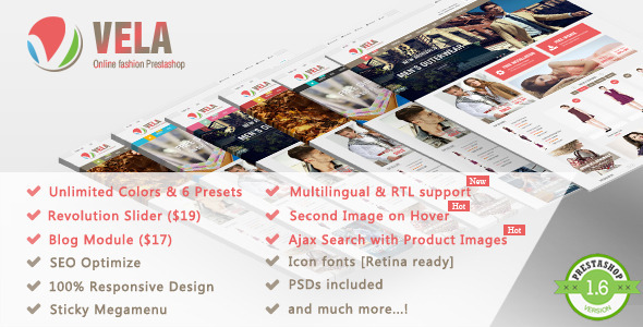 Vela - Responsive Prestashop Theme - Fashion PrestaShop