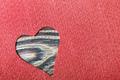 heart cut from felt - PhotoDune Item for Sale
