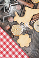 Christmas cookies and different ingredients for baking - PhotoDune Item for Sale