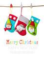 Christmas stockings isolated on white. - PhotoDune Item for Sale