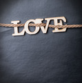 carved wooden letters love - PhotoDune Item for Sale