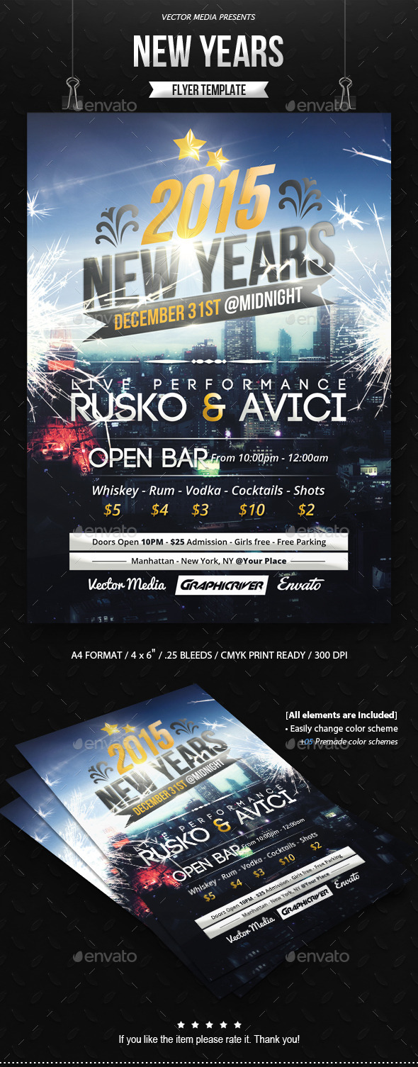 GraphicRiver New Years Flyer 9801260