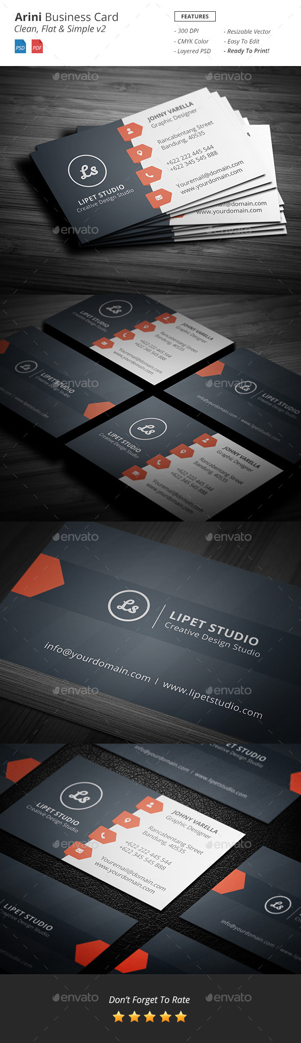 GraphicRiver Arini Clean Business Card Template v2 9801262