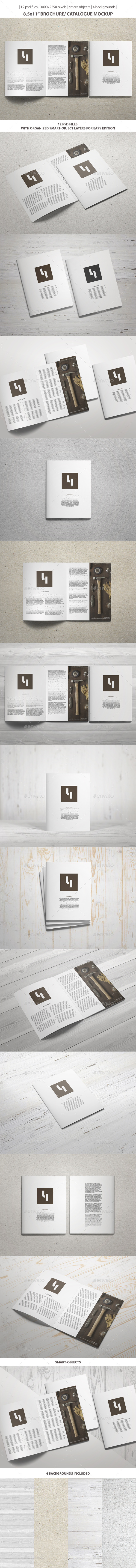 GraphicRiver 8.5x11 Brochure Catalogue Mockup 9801580