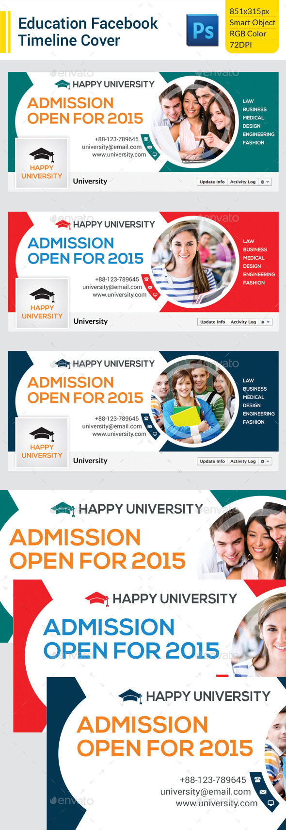 GraphicRiver Education Facebook Timeline Cover 9801935