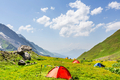 Tent in mountains - PhotoDune Item for Sale