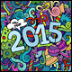 2015 Year Doodles Backgrounds - GraphicRiver Item for Sale