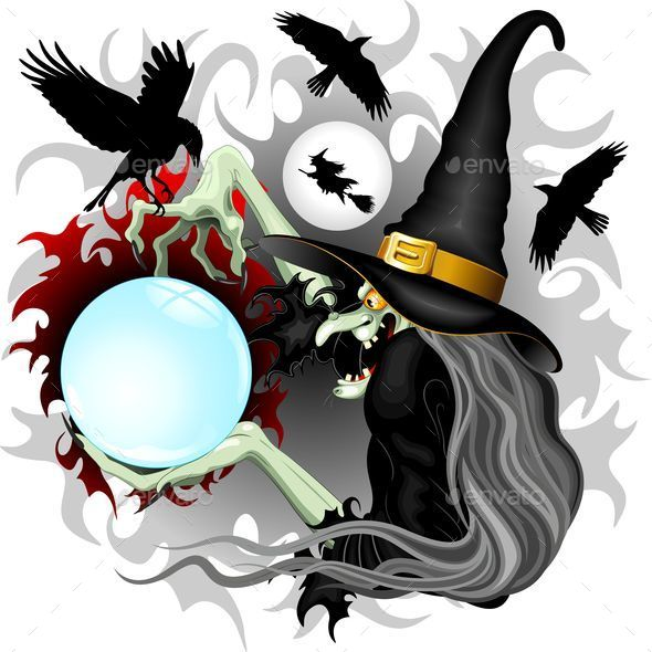 GraphicRiver Witch Epiphany and Crows 9802146