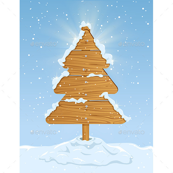 GraphicRiver Wooden Christmas Tree 9802322