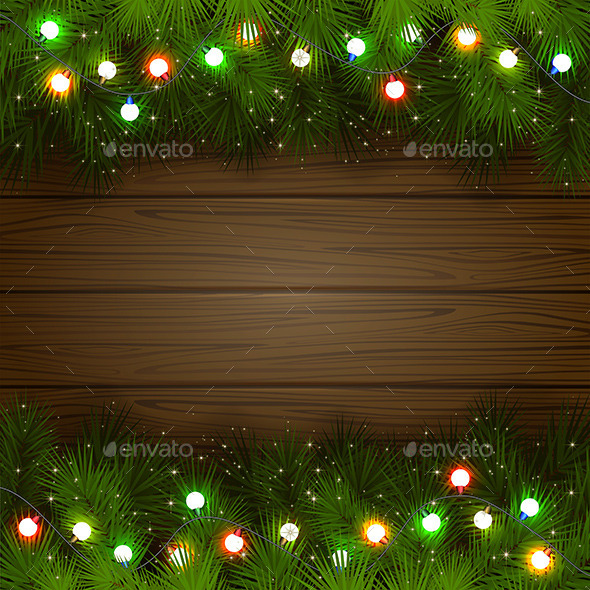 GraphicRiver Multicolored Christmas Garland 9802342